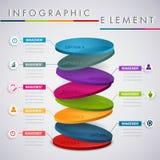 Entourez la conception infographic de couche, pour des affaires de présentation Photos libres de droits