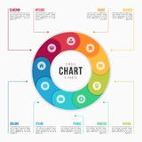 Entourez le calibre infographic de diagramme avec 9 parts, processus, étapes