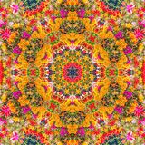 Entourez le fond synthétique kaléïdoscopique d'art, la géométrie complexe Image libre de droits