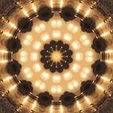 Entourez le fond synthétique kaléïdoscopique d'art, la géométrie complexe Photo libre de droits