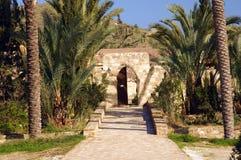 Entrée à Agios Georgios Monastery chez Mavrovouni Image libre de droits
