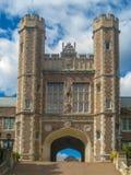 Entrée à haut Washington University rangé à St Louis photographie stock libre de droits