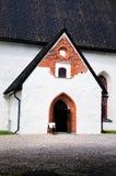 Entrée à l'église dans Porvoo Photo stock