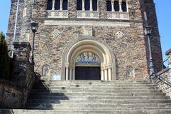 Entrée à l'église de paroisse Image libre de droits