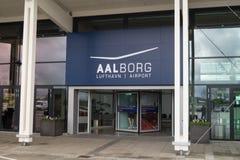 Entrée à l'aéroport d'Aalborg Photographie stock