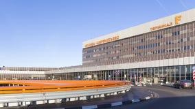 Entrée à l'aéroport de Sheremetyevo, Moscou Photographie stock libre de droits