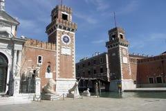 Entrée à l'Arsenale Venise Photos stock