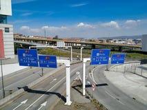 Entrée à l'autoroute IP1 principale au Portugal, qui relie Algarve au nord image stock