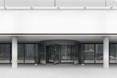 Entrée à l'immeuble de bureaux, vue de face Image stock