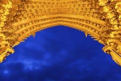 Entrée à la cathédrale de notre Madame d'Amiens Image stock