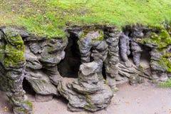 Entrée à la caverne de Mechowo - Pologne Images stock