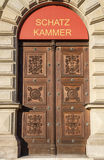 Entrée à la chambre de trésor de Munich Residenz, Allemagne Photographie stock libre de droits