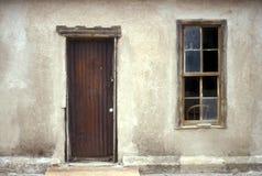 Entrée à la maison de ville fantôme Images libres de droits