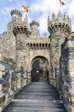 Entrée à la maison ou principale de château de Templar à Ponferrada, le Bierzo Photos stock