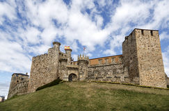 Entrée à la maison ou principale de château de Templar à Ponferrada, le Bierzo Image libre de droits