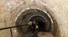 Entrée à la mine de sel Turda Photo libre de droits