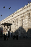 Entrée à la mosquée d'Umayyad à Damas Photos stock