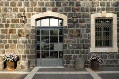 Entrée à la résidence du ` s de Piligrim à Tibériade Photo stock