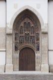 Entrée à la vieille église Photographie stock libre de droits