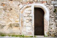 Entrée à la vieille construction Photos libres de droits