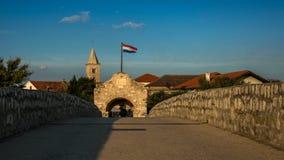 Entrée à la ville de Nin, Croatie Photo stock