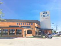 Entrée à PINSTACK dans Las Colinas, Irving, le Texas photo stock
