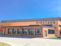 Entrée à PINSTACK dans Las Colinas, Irving, le Texas photographie stock