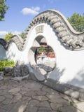 Entrée à un jardin chinois Photo libre de droits