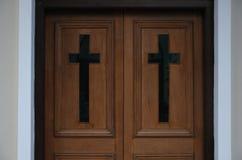 Entrée à une église Images libres de droits