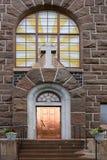 Entrée. Église de Raahe (1912) photographie stock libre de droits
