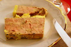 Entrée 2 dos gras de Foie foto de stock royalty free