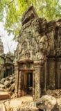 Entrée antique, merci temple de Prohm, Angkor Thom, Siem Reap, Cambodge Photos stock