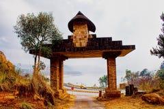 Entrée au bâti du nombril Lum Sohpet Bneng, Shi de Heaven's Photographie stock