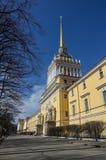 Entrée au bâtiment d'Amirauté dans le St Petersbourg, Russie Aucun p Photos libres de droits