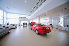 Entrée au bâtiment du centre Varshavka de Volkswagen Photo libre de droits