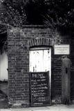 Entrée au café de vélo du ` s d'Exeter photographie stock