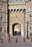 Entrée au château de Windsor en Angleterre Photos libres de droits