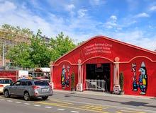 Entrée au cirque Knie à Zurich Photographie stock libre de droits