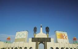 Entrée au Colisé commémoratif de Los Angeles, Los Angeles, la Californie image libre de droits