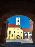 Entrée au fort médiéval d'Oradea Photographie stock libre de droits