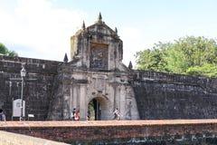 Entrée au fort Santiago dedans intra-muros Photo libre de droits
