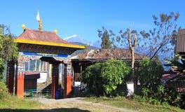 Entrée au monastère de Tashiding Photographie stock libre de droits