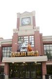 Entrée au monde de chocolat Photo libre de droits