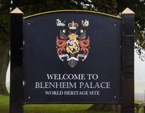 Entrée au palais de Blenheim photos libres de droits