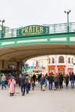 Entrée au parc d'attractions de Prater à Vienne photos libres de droits