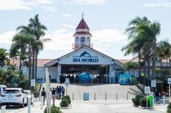 Entrée au parc d'attractions du monde de mer sur la Gold Coast images stock