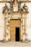 Entrée au pavillon à l'université Coimbra portugal Photographie stock libre de droits