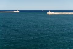 Entrée au port grand Malte Images stock