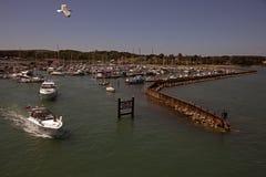 Entrée au port IOW de Yarmouth Images stock