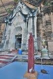 Entrée au sanctuaire intérieur Pagoda de Pahtodawgyi ou de Mingun Région de Sagaing myanmar Photos stock
